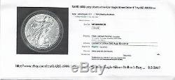1999 American Eagle Silver Dollar Certified Ms70-very Rare In This Condition