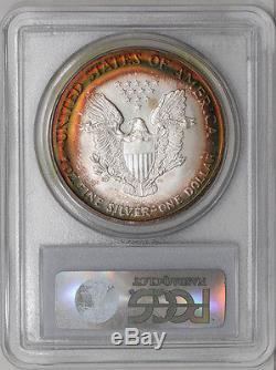 1999 American Silver Eagle $ MS67 Amazing Color PCGS