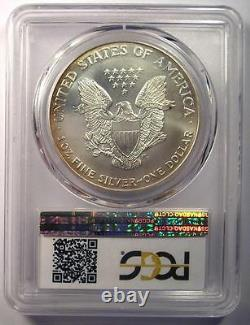 1999 Toned American Silver Eagle Dollar $1 ASE PCGS MS68 Rainbow Toning Coin