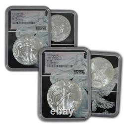 2-Coin Set of 2021 First 400 & Last 400 NGC MS 70 American Silver Eagles