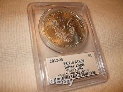 (20) 2012 W American Silver Eagles PCGS MS69 First Strike, Full Box
