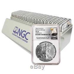 (20) 2016 $1 American Silver Eagle NGC MS70 30th FDI NGC Storage Box
