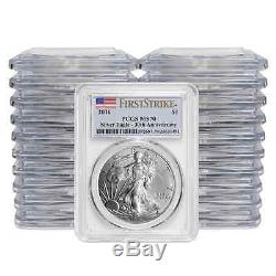 (20) 2016 $1 American Silver Eagle PCGS MS70 First Strike Label