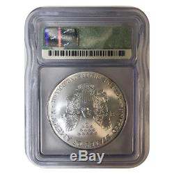 2000 $1 American Silver Eagle Icg Ms70 Scarce In This Grade