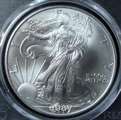 2000 1oz Silver American Eagle Dollar PCGS MS 70