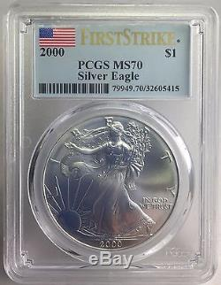 2000 American Silver Eagle PCGS MS70 First Strike