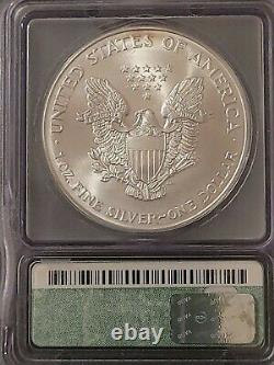 2000 ICG MS70 Certified American Silver Eagle Dollar S$1 RARE TOP SHELF
