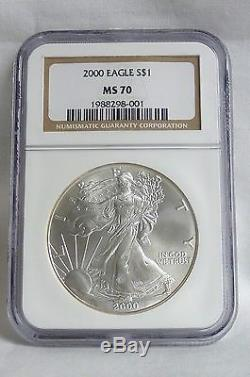 2000 Silver American Eagle (NGC MS-70)