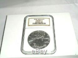 2000 US $1 American Silver Eagle Dollar Coin NGC MS 70 Very Rare High Grade