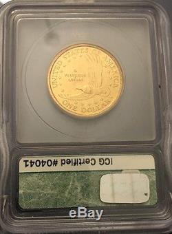 2000 W Silver American Eagle MS70 ICG & 2000 D Dollar burnished millennium set