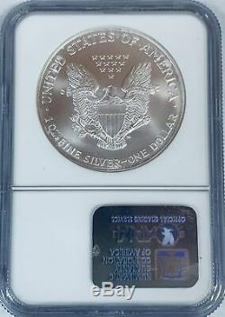 2001 $1 American Silver Eagle NGC MS70