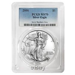 2001 1 oz Silver American Eagle $1 Coin PCGS MS 70