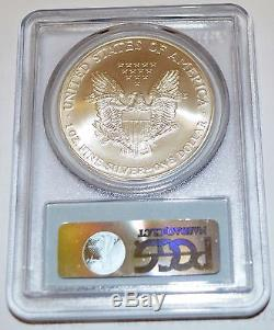 2001 American Silver Eagle Dollar Ms70 Pcgs