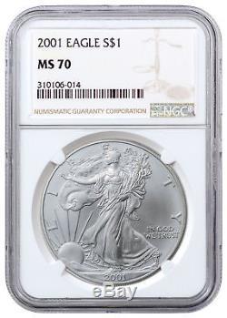 2001 American Silver Eagle NGC MS70 SKU21140