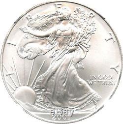 2001 Silver Eagle $1 NGC MS70 Rare Grade American Eagle Silver Dollar ASE