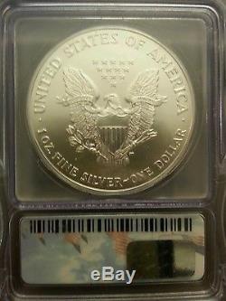 2001 WTC Ground Zero Recovery Silver American Eagle MS70 ICG 9-11-01 Rare