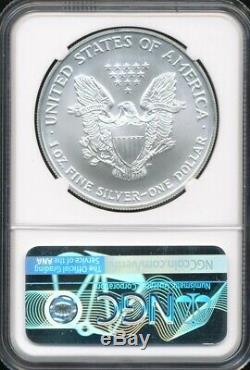 2002 $1 ASE American Silver Eagle NGC MS 70