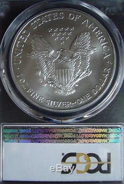 2002 1oz Silver American Eagle Dollar PCGS MS 70