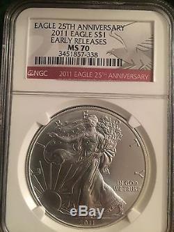 2002-2016 Ms 70 American Silver Eagles (15)