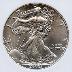 2002 American Silver Eagle Dollar - NGC MS 70 - Free Shipping in USA