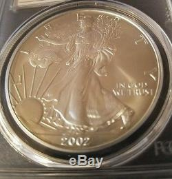 2002 American Silver Eagle MS70 Mercanti Signed Population only 36