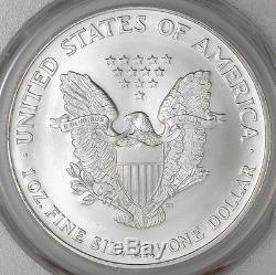2002 American Silver Eagle MS70 PCGS