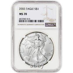 2002 American Silver Eagle NGC MS70