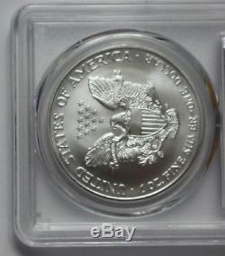 2002 American Silver Eagle PCGS MS70 ASE Key Date 1oz Silver. 999 Bullion US $1