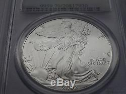 2002 american silver eagle PCGS MS 70 rare very low pop of 81 Lucky coin