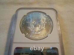2002 silver American Eagle NGC MS70