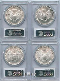 2003, 2004,2005, 2006 $1 American Silver Eagles PCGS MS 70 For Registry Sets