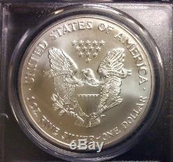 2003 Pcgs Ms70 1oz. 999 Fine Silver American Eagle $1 Coin