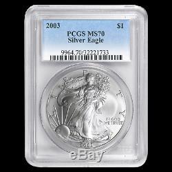 2003 Silver American Eagle MS-70 PCGS SKU #59738