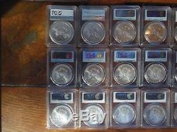 2003 to 2016 PCGS MS70 SILVER AMERICAN EAGLE 15 COINS TOTAL