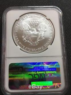 2004 Silver American Eagle. 999 Fine Silver Dollar Coin Ngc Ms70