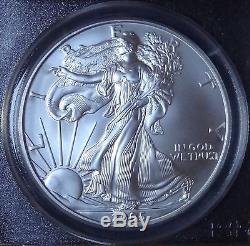 2005 American Silver Eagle Dollar $1 Pcgs Ms70