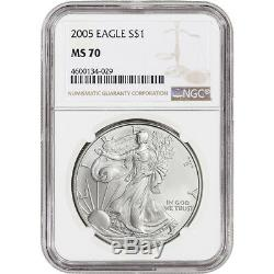 2005 American Silver Eagle NGC MS70