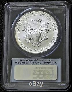 2005 SILVER AMERICAN EAGLE FIRST STRIKE PCGS MS70 A RARE FIND POP 445