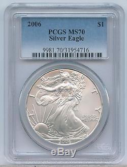 2006 $1 American Silver Eagle PCGS MS 70