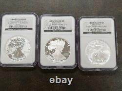 2006 $1 American silver eagle 20th anniversary W MS69 P reverse PF 69 proof set