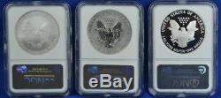 2006 20th Anniversary Silver American Eagle Set NGC MS70 / PF70 / PF70 Ultra Cam
