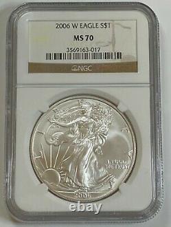 2006 3 Coin American Silver Eagle 20th Anniversary Set NGC PF69, MS70, PF70 READ