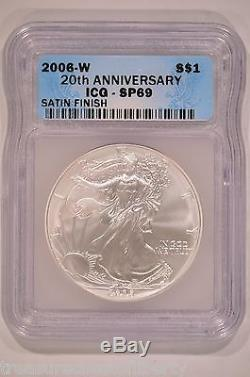2006 American Silver Eagle 20th Anniversary Set ICG PR69DCAM MS69 Reverse PR69