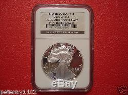 2006 American Silver Eagle 20th Anniversary Set. NGC BLACK LABEL MS70, RP70, PR70