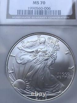 2006 American Silver Eagle Dollar MS70 NGC Mint State 70