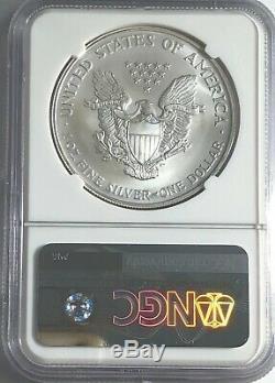 2006 Ngc Ms70 Silver American Eagle Mint State 1 Oz. 999 Fine Bullion