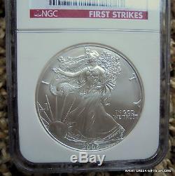 2006 W & 2006 American Silver Eagle NGC MS 70 E. R. F. R. 2 coin set++++ #17