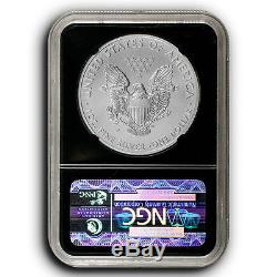 2006 W American Eagle NGC MS70 Burnished 1 oz Silver Dollar Coin Black Core