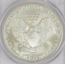 2006-W American Silver Eagle $1 PCGS MS70 Rare Flag Mercanti Label 30521317