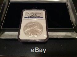 2006 W American Silver Eagle. NGC MS70. 20th Anniversary. From Gold/Silver Set